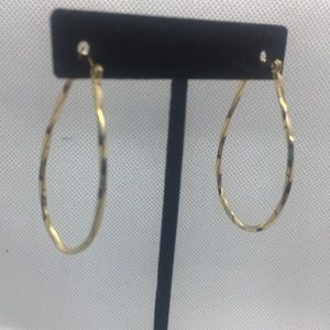 4 for $12: Gold Tone Hoop Earrings